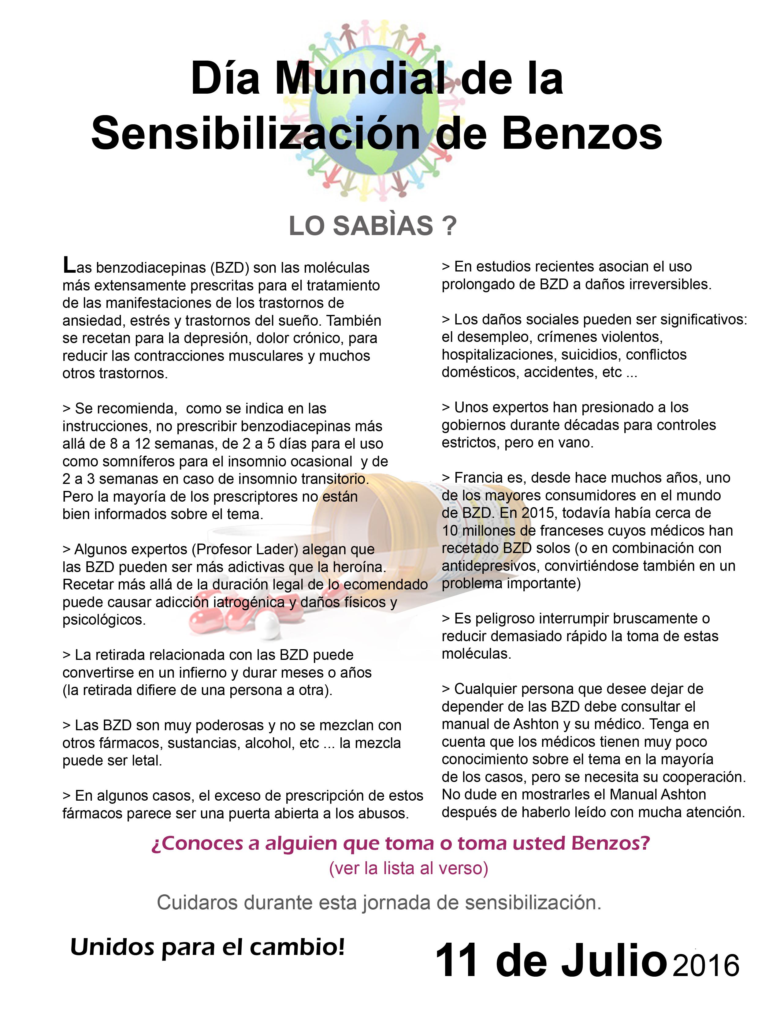 benzodiazepine liste pdf